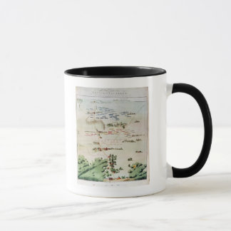 Plan and view of the Battle of Waterloo Mug