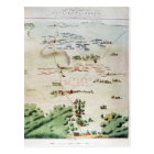 Plan and view of the Battle of Waterloo Postcard