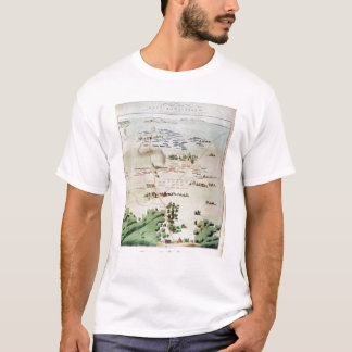 Plan and view of the Battle of Waterloo T-Shirt
