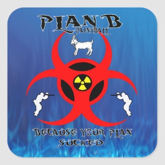 Plan B Paintball Small Logo Sticker