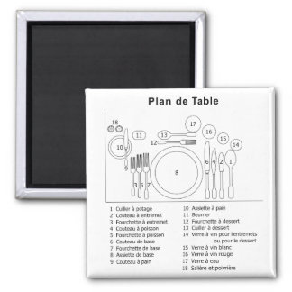 Plan De Table French Refrigerator Magnet