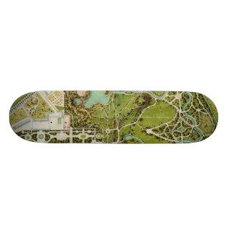 Plan du jardin et chateau de la Reine Skate Board Decks