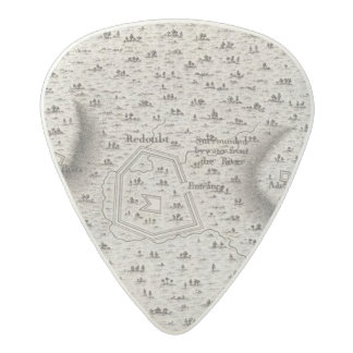 Plan of an Old Fort in the state of Kentucky Acetal Guitar Pick