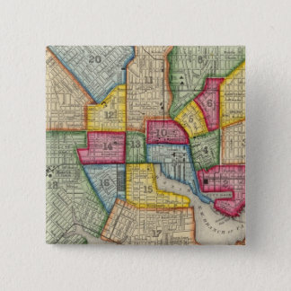 Plan Of Baltimore 15 Cm Square Badge