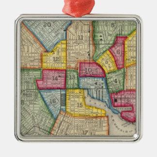 Plan Of Baltimore Christmas Ornament