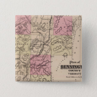 Plan of Bennington County, Vermont 15 Cm Square Badge