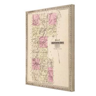 Plan of Bennington County, Vermont Canvas Print