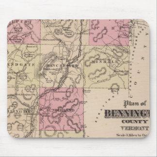 Plan of Bennington County, Vermont Mouse Mat