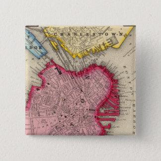 Plan Of Boston 15 Cm Square Badge
