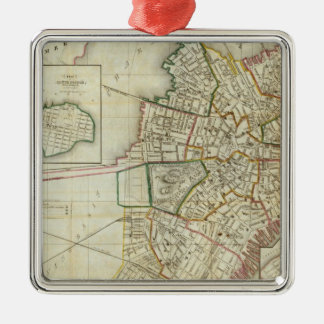 Plan of Boston and Charleston Christmas Ornament