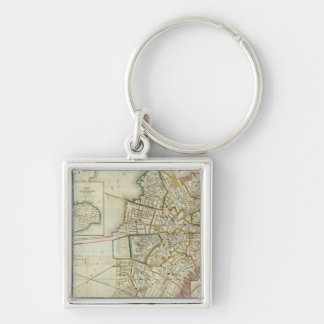 Plan of Boston and Charleston Key Ring