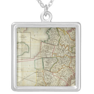 Plan of Boston and Charleston Silver Plated Necklace