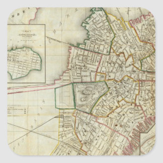 Plan of Boston and Charleston Square Sticker