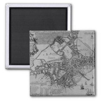 Plan of Boston, New England, 1739 Magnets