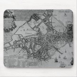 Plan of Boston, New England, 1739 Mouse Mat