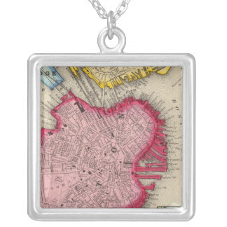 Plan Of Boston Silver Plated Necklace