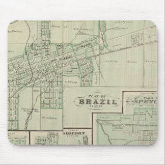 Plan of Brazil, Clay Co with Bowling Green Mouse Mat