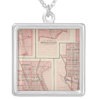 Plan of Cambridge City, Wayne Co with Newport Silver Plated Necklace