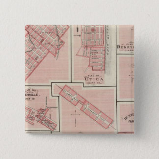 Plan of Charlestown with Utica, Henryville 15 Cm Square Badge