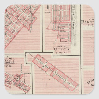 Plan of Charlestown with Utica, Henryville Square Sticker