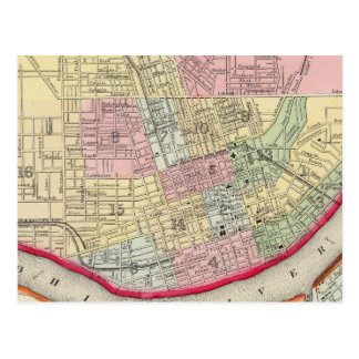 Plan Of Cincinnati And Vicinity Postcard