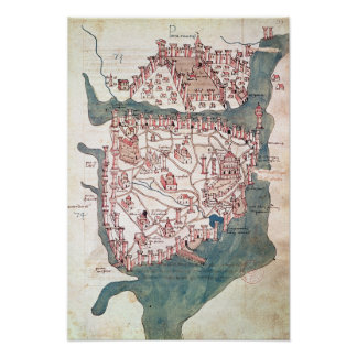 Plan of Constantinople Poster