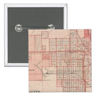 Plan of Council Bluffs, Pottawattamie Co 15 Cm Square Badge