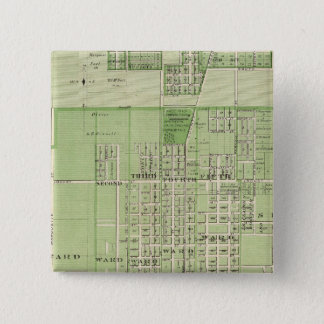 Plan of Davenport, Scott County, State of Iowa 15 Cm Square Badge