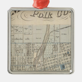 Plan of Des Moines, Polk County, Iowa Christmas Ornament