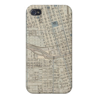 Plan of Des Moines, Polk County, Iowa iPhone 4/4S Case