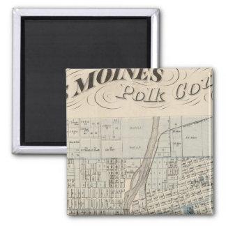Plan of Des Moines, Polk County, Iowa Magnet