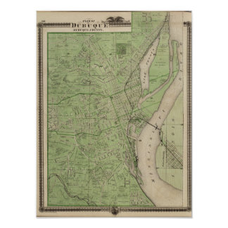 Plan of Dubuque, Dubuque County, State of Iowa Poster