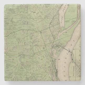 Plan of Dubuque, Dubuque County, State of Iowa Stone Coaster