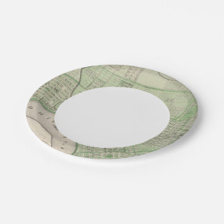 Plan of Evansville, Vanderburgh Co 7 Inch Paper Plate