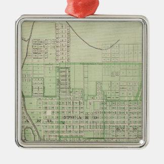 Plan of Evansville, Vanderburgh Co Christmas Ornament