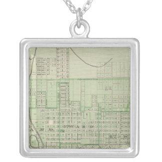 Plan of Evansville, Vanderburgh Co Silver Plated Necklace