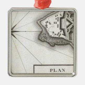 Plan of Fort Niagara Christmas Ornament