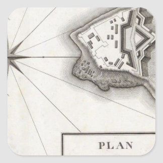Plan of Fort Niagara Square Sticker