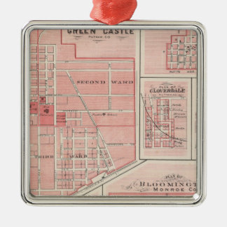 Plan of Green Castle, Putnam Co with Bloomington Christmas Ornament
