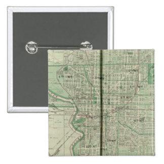 Plan of Indianapolis 15 Cm Square Badge