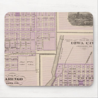 Plan of Iowa City, Plan of Marengo Mouse Mat