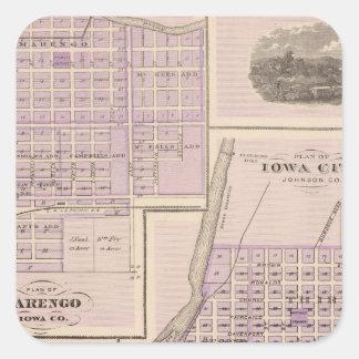 Plan of Iowa City, Plan of Marengo Square Sticker