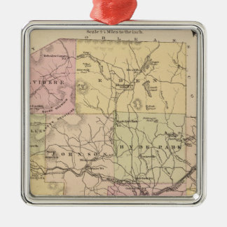 Plan of Lamoille Company in Vermont Christmas Ornament