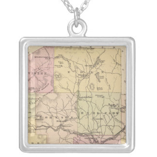 Plan of Lamoille Company in Vermont Silver Plated Necklace