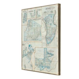 Plan of Lawrenceburgh Canvas Print