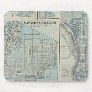 Plan of Lawrenceburgh Mouse Mat