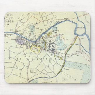 Plan of Lucknow showing Operations Mouse Pad