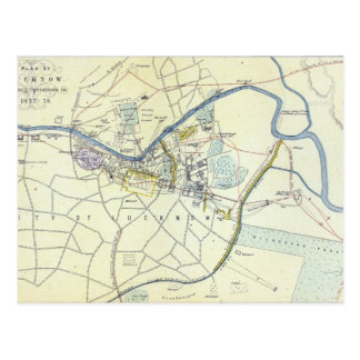 Plan of Lucknow showing Operations Postcard