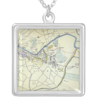 Plan of Lucknow showing Operations Silver Plated Necklace