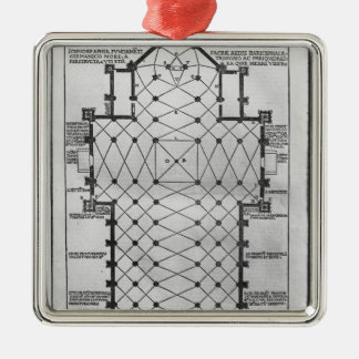 Plan of Milan Cathedral Christmas Ornament